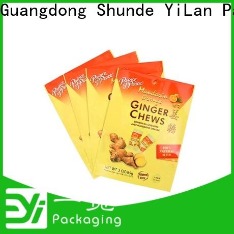 YiLan Packaging Custom resealable food packaging company for food