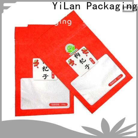 YiLan Packaging Latest three side seal pouch manufacturers for storage