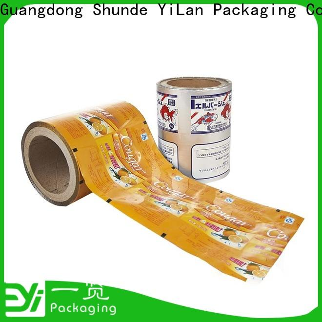 YiLan Packaging film laminated packaging films manufacturers for decoration