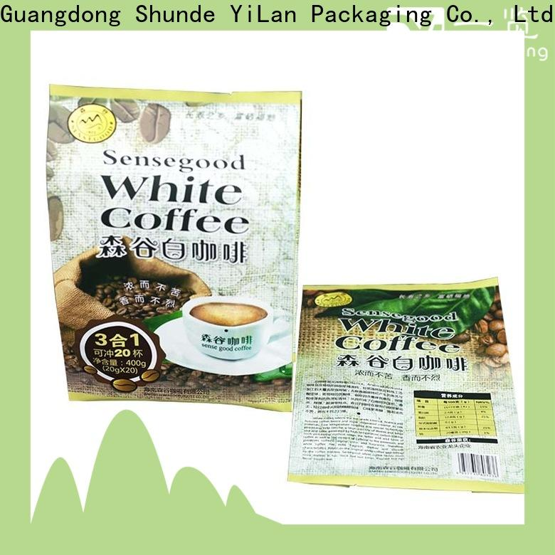 YiLan Packaging translucent fin seal packaging Suppliers for coffee bag