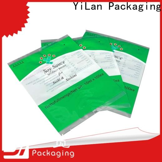 YiLan Packaging translucent center seal pouch for business for cookies