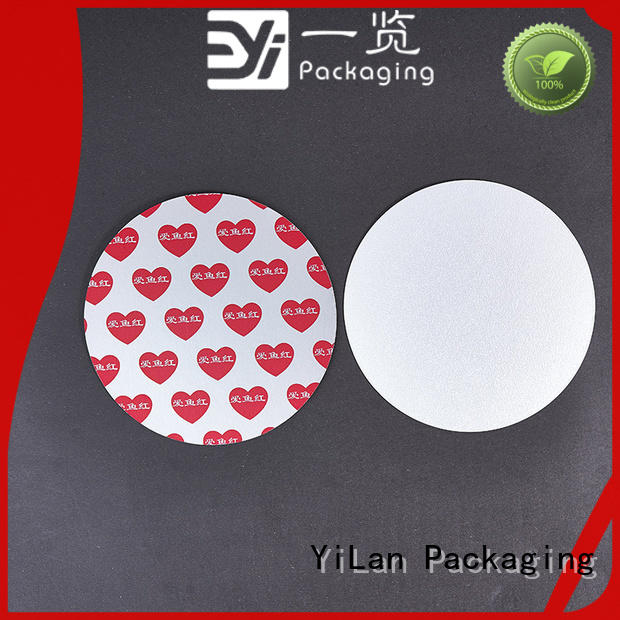 YiLan Packaging translucent induction seal liners easy to open for calcium tablet