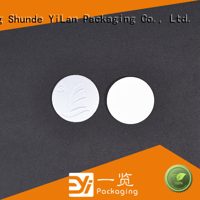YiLan Packaging adhesive induction seal liners with quality assurance for calcium tablet