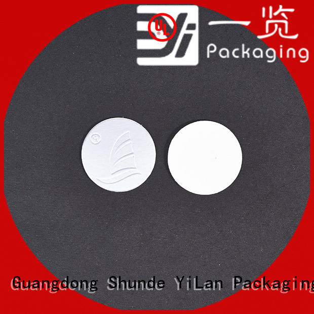YiLan Packaging exquisite seal liner easy to open for calcium tablet