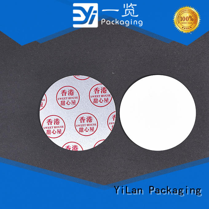 YiLan Packaging no induction liner easy to open for food