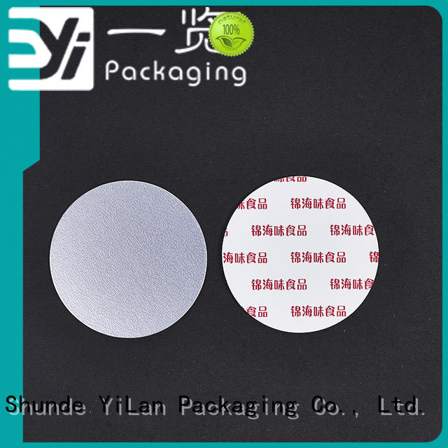 YiLan Packaging printing induction seal liners with strict quality control system for calcium tablet